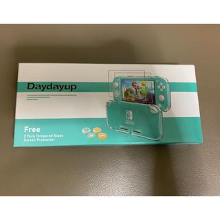 新品未使用 Switch Lite カバー ケース ガラスフィルム付き 透明保護(その他)