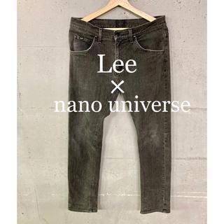 ナノユニバース(nano・universe)のLee×nano universe別注!ブラックストレッチデニム!日本製!(デニム/ジーンズ)