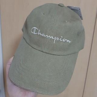 チャンピオン(Champion)の新品☆Champion ユニセックス キャップ/帽子 カーキ ナチュラル(キャップ)