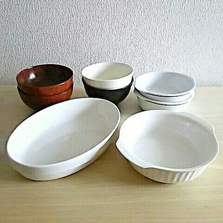 ムジルシリョウヒン(MUJI (無印良品))の無印良品グラタン皿、汁椀含む食器8点セット(食器)