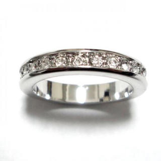 2号 フルエタニティ スワロフスキークリスタル シルバーリング(リング(指輪))