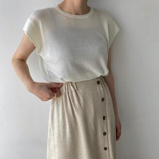 トゥデイフル(TODAYFUL)のwillfully:rayon sleeve knit tank(カットソー(半袖/袖なし))