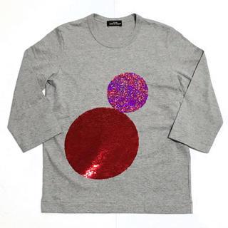 コムデギャルソン(COMME des GARCONS)のトリココムデギャルソン スパンコール Tシャツ 定価24,000円(Tシャツ(長袖/七分))