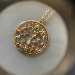 オーロラグラン(AURORA GRAN)の⭐️美品⭐️AUROLA GRAN⭐️ K10⭐️透かしモチーフネックレス⭐️(ネックレス)