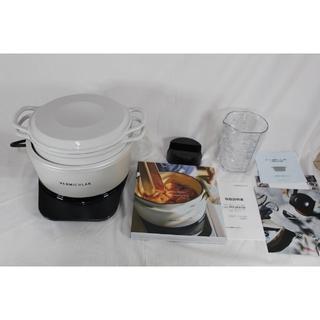 バーミキュラ(Vermicular)の★ほぼ新品★ バーミキュラ ライスポットミニ 3合炊き  RP19A-WH(炊飯器)