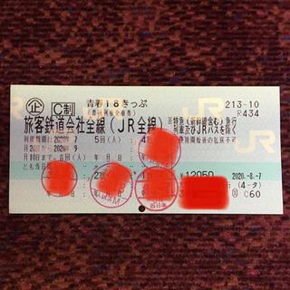 ジェイアール(JR)の青春18きっぷ 残1回(鉄道乗車券)
