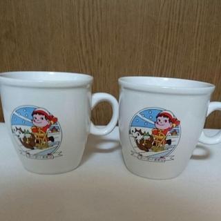 フジヤ(不二家)の不二家 ペコちゃんマグカップ 2個セット(ホワイト)(グラス/カップ)