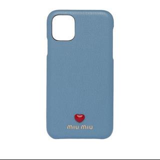 ミュウミュウ(miumiu)のレア♡iPhone11 ケース miumiu  新品 ブルー ミュウミュウ(iPhoneケース)