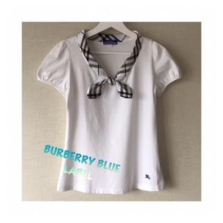 バーバリーブルーレーベル(BURBERRY BLUE LABEL)のBURBERRYb BLUE LABEL ⭐半袖シャツ ブラウス(Tシャツ(半袖/袖なし))