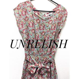 アンレリッシュ(UNRELISH)のUNRELISH【新品、タグ付き】花柄 オールインワン パンツ(オールインワン)