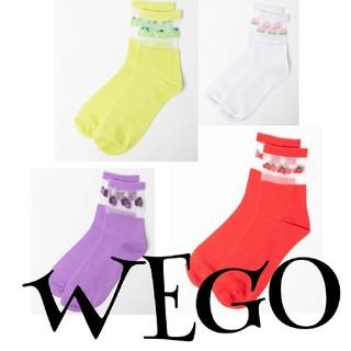 ウィゴー(WEGO)のWEGO ☺︎︎フルーツ柄シースルーソックス(4足セット)(ソックス)