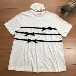 ジェーンマープル(JaneMarple)のyジェーンマープル ベルベットリボントリミングTシャツ 新品未使用(Tシャツ(半袖/袖なし))