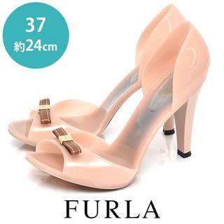 フルラ(Furla)の美品❤️フルラ リボン ラバー サンダル 37(約24cm)(ハイヒール/パンプス)