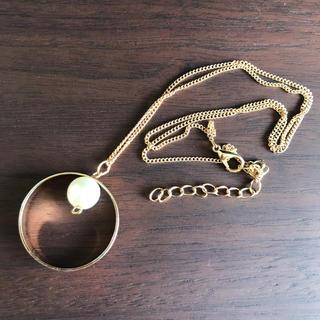 ヴィス(ViS)のViS新品・未使用ゴールド×パールリングネックレス(ネックレス)