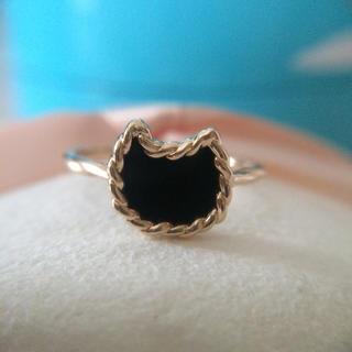 ツモリチサト(TSUMORI CHISATO)のツモリチサト ジュエリー  猫リング 黒猫(リング(指輪))