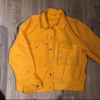 エイチアンドエム(H&M)のジャケット イエロー 黄色(Gジャン/デニムジャケット)