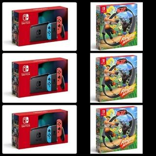 ニンテンドースイッチ(Nintendo Switch)のNintendo Switch ネオン + リングフィットアドベンチャー セット(家庭用ゲーム機本体)