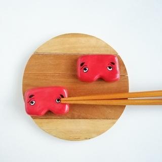 にわか面 箸置きセット(テーブル用品)