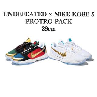 アンディフィーテッド(UNDEFEATED)のUNDEFEATED × NIKE KOBE 5 PROTRO PACK (スニーカー)
