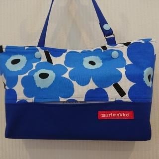 マリメッコ(marimekko)の ボックスティッシュケース ブルー(インテリア雑貨)