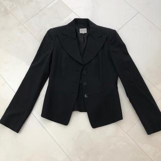 アルマーニ コレツィオーニ(ARMANI COLLEZIONI)のアルマーニ 黒 スーツジャケット(ノーカラージャケット)