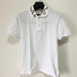 グッチ(Gucci)の定価8万 美品 Gucci スネーク エンブロイダリー ポロシャツ Sサイズ(ポロシャツ)
