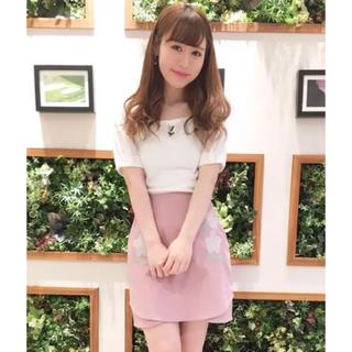 ダズリン(dazzlin)のdazzlin  ダズリン エンブロイダリースカート 刺繍 ピンク スカート(ミニスカート)