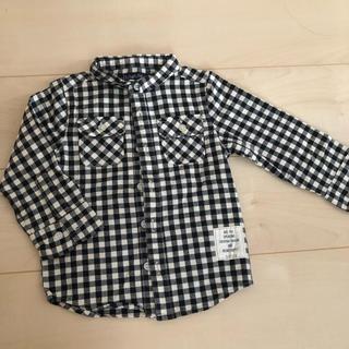 フタフタ(futafuta)の95cmギンガムチェックシャツ(ブラウス)