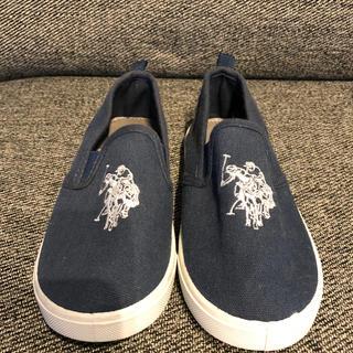 ポロラルフローレン(POLO RALPH LAUREN)の size18㎝子供用靴poloネイビー(スニーカー)