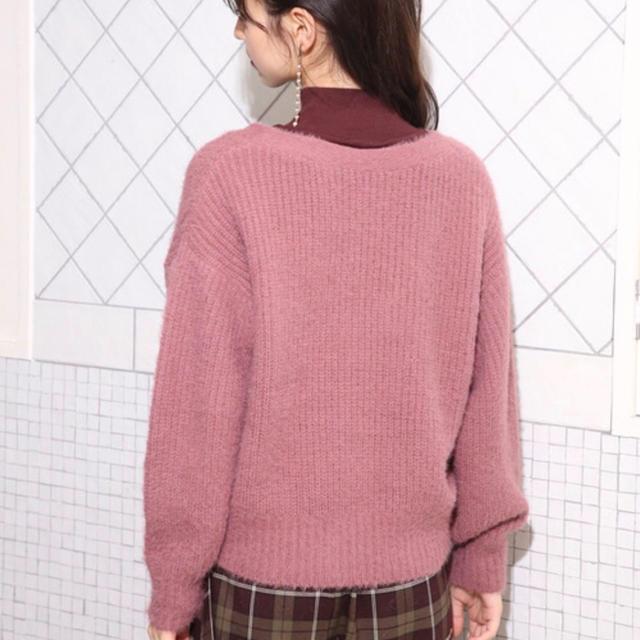 one after another NICE CLAUP(ワンアフターアナザーナイスクラップ)のNICECLAUP ふわもちカーディガン / ニット / セーター / pink レディースのトップス(ニット/セーター)の商品写真