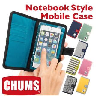 チャムス(CHUMS)のチャムス CHUMS スマホケース ノートブックスタイルモバイルケース スウェッ(iPhoneケース)