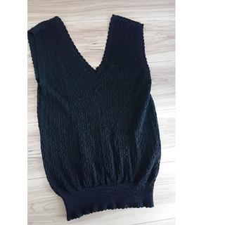ココディール(COCO DEAL)のココディール  メッシュニットベスト ブラック(Tシャツ(半袖/袖なし))
