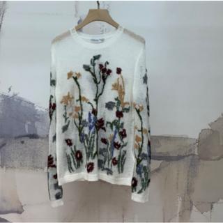 ディオール(Dior)の☆ディオール☆JARDIN CHAMPETRE セーター カシミア 花柄 (ニット/セーター)