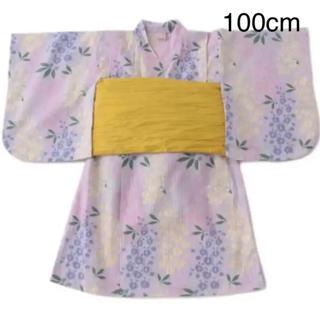 プティマイン(petit main)の新品 プティマイン  藤の花 浴衣 100cm(甚平/浴衣)