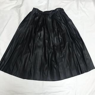 ミスティウーマン(mysty woman)のmysty woman レザープリーツスカート(ひざ丈スカート)