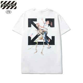 オフホワイト(OFF-WHITE)のOW3●激安!OFF-WHITE Tシャツ  男女兼用 白(Tシャツ(半袖/袖なし))