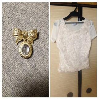 アナップラティーナ(ANAP Latina)のANAPボリューム薔薇レースTop's!(Tシャツ(半袖/袖なし))
