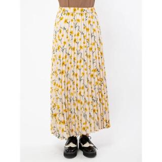 セシルマクビー(CECIL McBEE)の【新品未使用】 セシルマクビー 花柄プリーツスカート (ロングスカート)