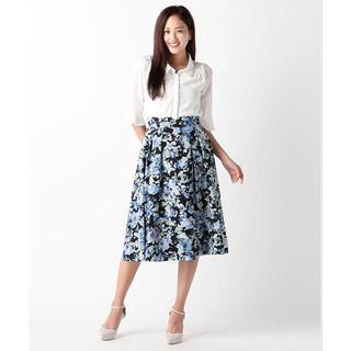 ミッシュマッシュ(MISCH MASCH)のMISCH MASCH 水彩花柄ミディ丈スカート(ひざ丈スカート)