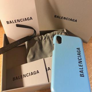 バレンシアガ(Balenciaga)のバレンシアガ iPhoneXケース ブルー(iPhoneケース)