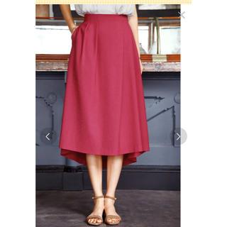 スタイルデリ(STYLE DELI)の【Made in JAPAN】リネン調タックデザインフレアスカート(ロングスカート)