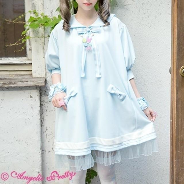 Angelic Pretty(アンジェリックプリティー)の今期セーラーカットソーワンピース レディースのワンピース(ひざ丈ワンピース)の商品写真
