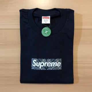 シュプリーム(Supreme)のシュプリーム Bandana Box Logo Tee Navy(Tシャツ/カットソー(半袖/袖なし))