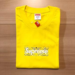 シュプリーム(Supreme)のシュプリーム Bandana Box Logo Tee Yellow(Tシャツ/カットソー(半袖/袖なし))