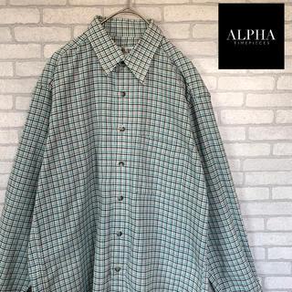 アルファ(alpha)の<ALPHA TIME> チェック柄 M シャツ 古着男子 ふるじょ(シャツ)