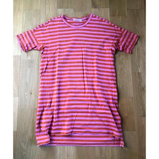 ヤエカ(YAECA)のhomspun ボーダーチュニック(Tシャツ(半袖/袖なし))
