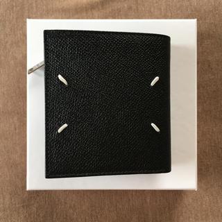 マルタンマルジェラ(Maison Martin Margiela)の20AW新品 メゾン マルジェラ メンズ  グレインレザー 折り財布 ブラック(折り財布)