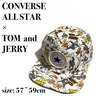 コンバース(CONVERSE)の【希少】 コンバースオールスター トムとジェリー 総柄 キャップ(キャップ)