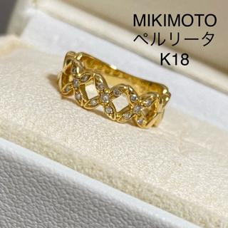 ミキモト(MIKIMOTO)のMIKIMOTO/ペルリータ/K18/ダイヤ/リング/ageteお好きな方にも(リング(指輪))