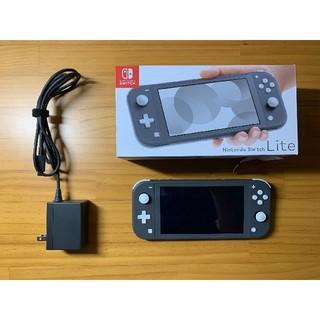 ニンテンドースイッチ(Nintendo Switch)の美品 Nintendo switch lite グレー 本体(家庭用ゲーム機本体)